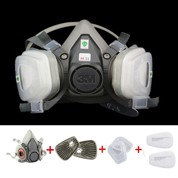 7 in 1 Suit Half Face mask Gas Mask Respirator Painting Spraying For 6200  N95 PM2 5 gas mask
