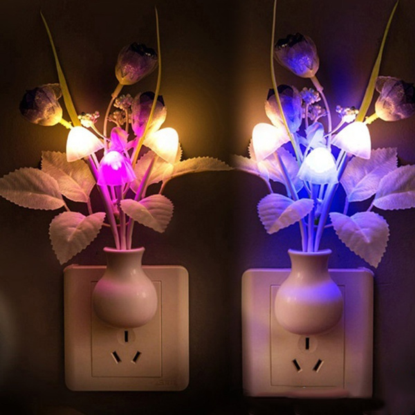 bedroomlight, Decor, Flowers, led