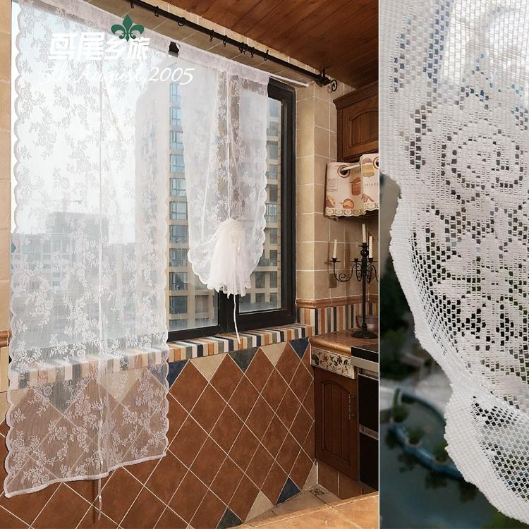 campagne fran aise dentelle blanche transparent panneau. Black Bedroom Furniture Sets. Home Design Ideas