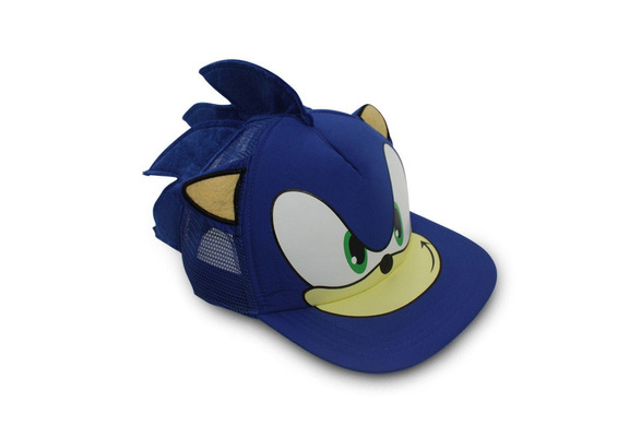 Blue Sonic The Hedgehog Cosplay Adjustable Baseball Cap Cartoon Hat Perimeter Wish