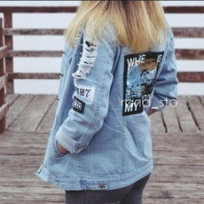 Blues, Casual Jackets, Fashion, Embroidery