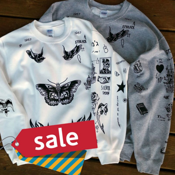 ed52045723d6 Harry Styles Tattoo UPDATED 1D One Direction Boy Band SweatShirt