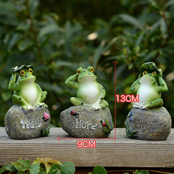 Wish | Pastoral, Animal, Garden, Ornaments, Resin, Frog, Pond, Frog,  Landscape, Stone, (3PCS)