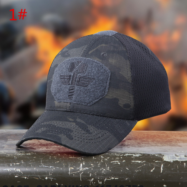 a7c8374b8 New Multicam Camo Outdoor Tactical Cap Military Hunting Hiking Baseball Hat  4 Colors