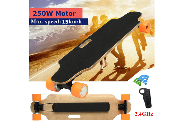 2500R 15km//h Electric Wireless Four Wheel Electric Skateboard Longboard w// RC