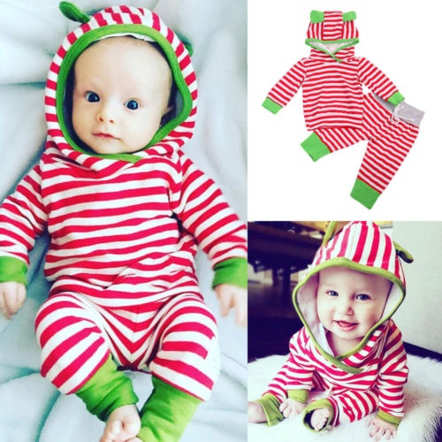 dec7f78a2901 Newborn Baby Girl Boy Rabbit 3D Ear Tops+ Pants Outfits Clothes ...