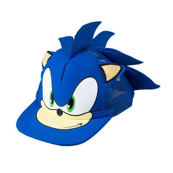 Cute Boy Sonic The Hedgehog Cartoon Youth Adjustable Baseball Hat Cap Blue For Boys Wish
