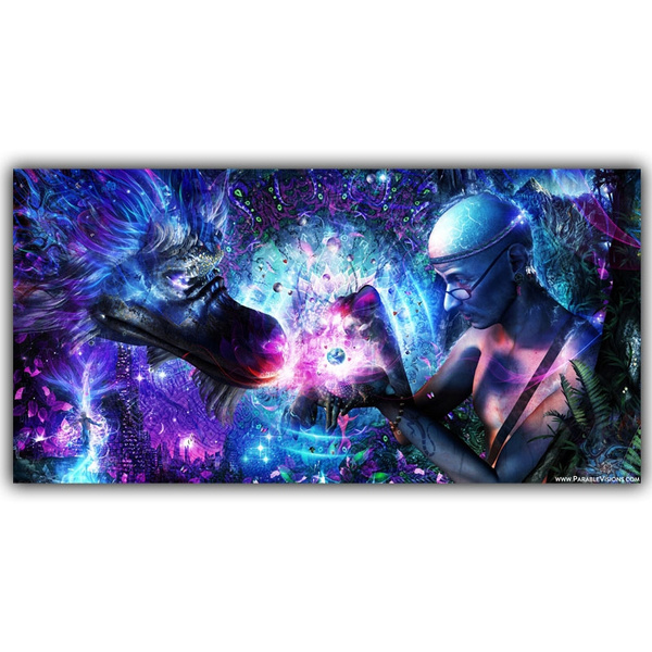 Psychedelic Trippy Abstract Art Poster Soul Universe Time Cameron Gray Spiritual Art Of Home Decor Silk Print Poster