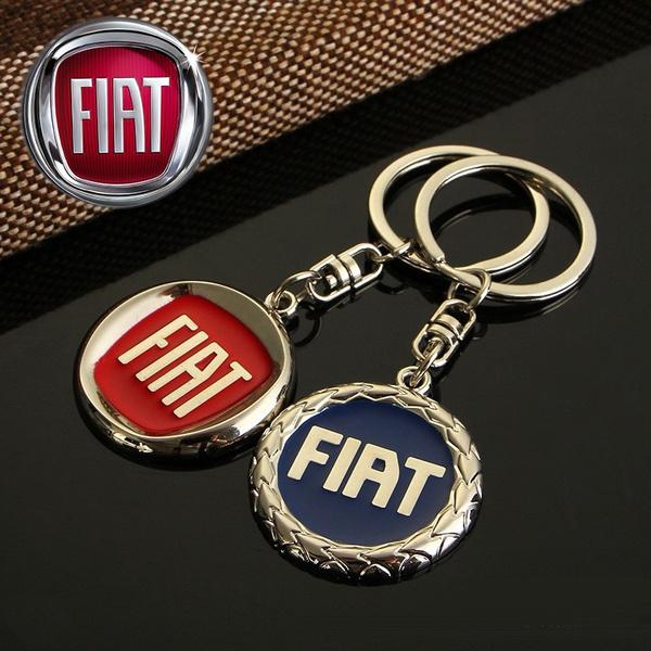 Fiat Logo Metal Car Keychain Keyring For Fiat Punto 500 Stilo Bravo Ducato Doblo Palio Grande Punto 2 Uno Panda Brava 500l Marea Albea Etc
