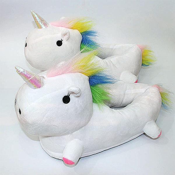 18ddb3a54 Unicorn Slippers Home ShoesPantufa Unicornio Pantufas De Pelucia De Bichos  Badslippers Chausson Chinelo Feminino | Wish