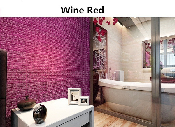 Wish | New Creative 3D DIY PE Foam Wallpaper Wall Stickers Home ...