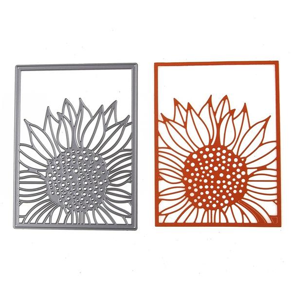 Decor, stencil, Scrapbooking, Sunflowers