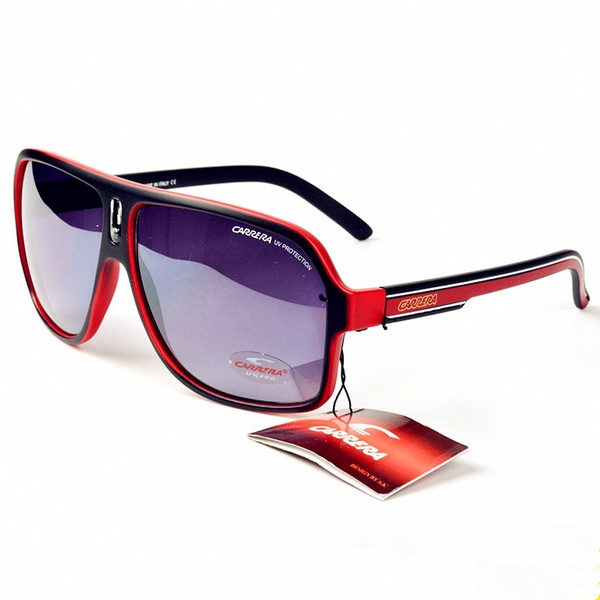 Box Fashion Men /& Women/'s Retro Sunglasses Unisex Matte Frame Carrera Glasses