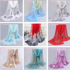 Women's Fashion, chiffonshawlscarf, Fashion, landscapeprintshawl