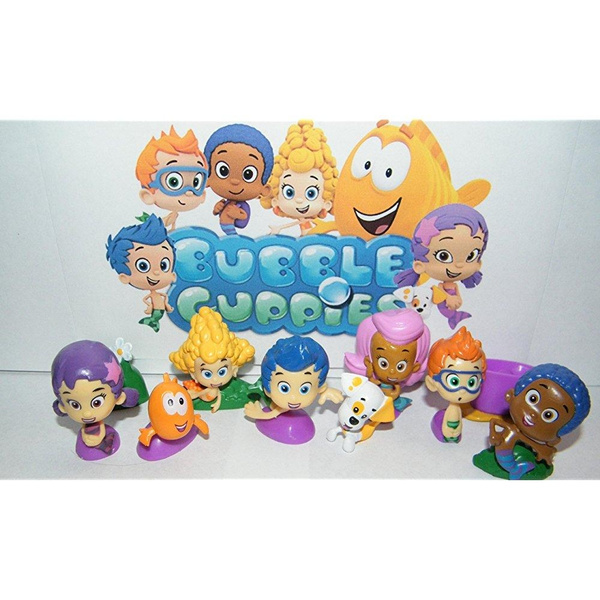 Molly and Bubble Puppy and Mr Grouper Medium Plush Doll Set Bubble Guppies Gil
