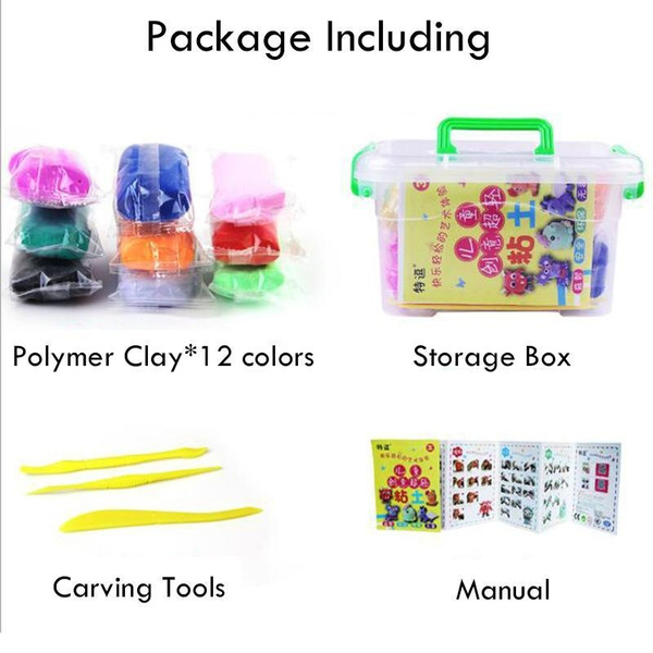 1set creative magnetic Polymer Clay Foam Modeling Magic Plastilina Air Dry  slime Plasticine DIY Set Play 3D Color Printing Plasticine Toys