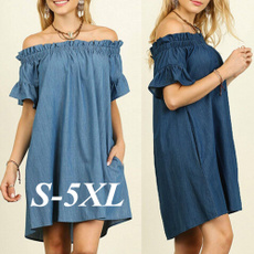 denim dress, Plus Size, pregnance, Shirt