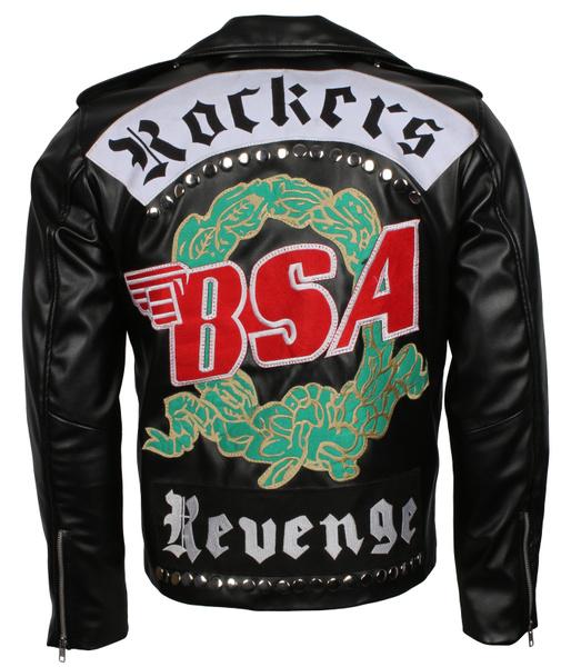 BSA George Michael Faith Rockers Revenge Genuine Leather Jacket