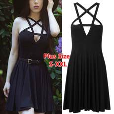 vintagewomendre, sleeveless, Goth, Fashion