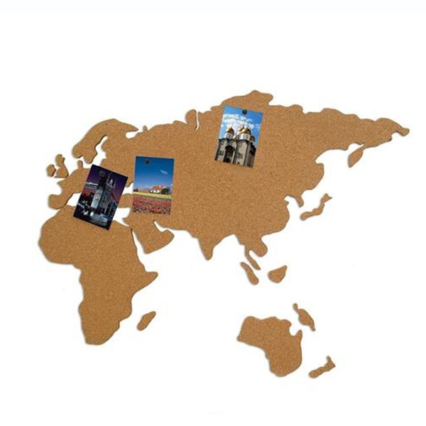 Wish 1pc cork wood wall world map office school home decoration wish 1pc cork wood wall world map office school home decoration map cork board sticker pins wood board map gumiabroncs Images