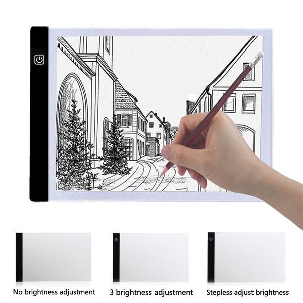 Box, ledboard, tracingpad, art