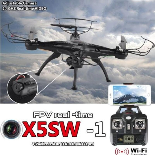 Wish | FPV X5SW-1 Quadcopter WIFI Live Cameras Selfie Video Drone 2.4Ghz 4CH RC RTF