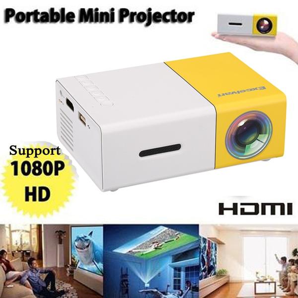 YG300 Mini Multimedia Projector LED HD 1080P Home Movie Theater AV USB SD Card