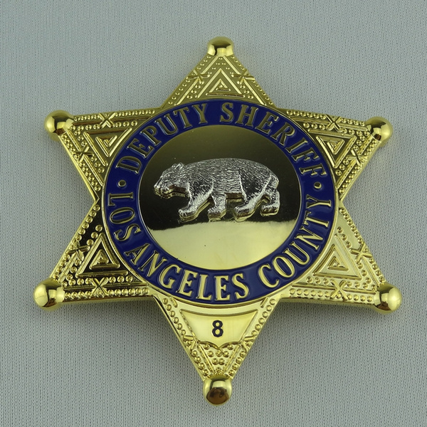 Collection LAPD US LOS ANGELES COUNTY DEPUTY SHERIFF POLICE BADGE PROPS  BADGE FOR COSPLAY