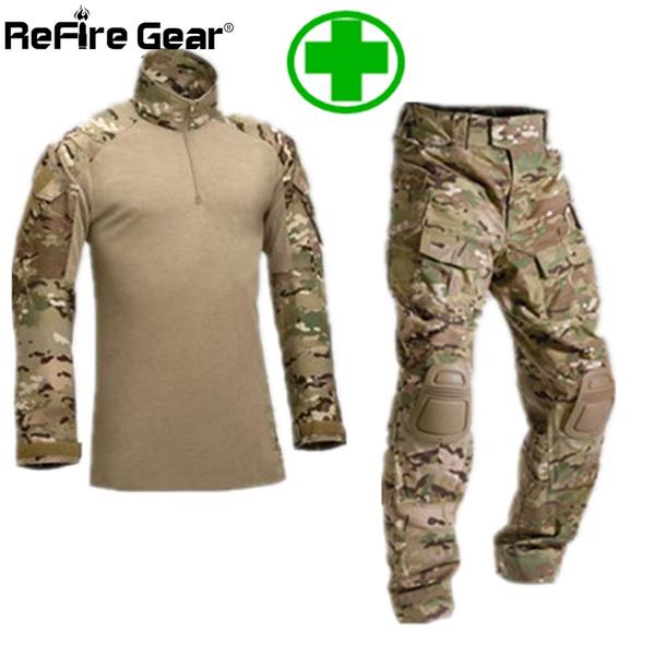 Tactical Army Combat Uniform Military ATACS ACU Camo Shirt /& Pants For Men