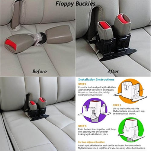 Wish Mybucklemate Car Seat Belt Buckle Holder Rear Seat Belt