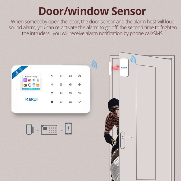 Wish W18 Wifi Gsm Sms Home Burglar Security Alarm System Pir
