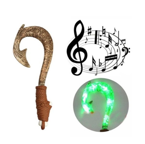 Maui Light-Up Sound Music Fish Hook Moana Toys for kid Toddler Birthday Gifts