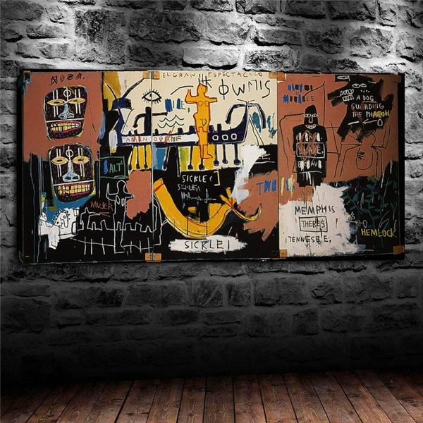 Art Oil Painting Print On Canvas Home Decor Jean Michel Basquiat Art Framed
