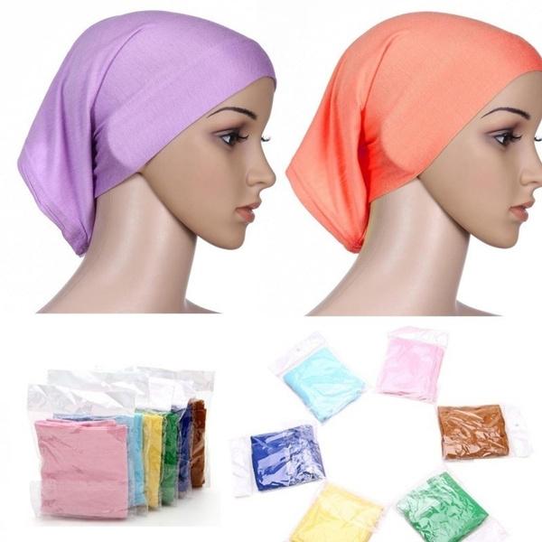 4 in 1  Women Ladies Under Scarf Hijab Tube Bonnet Bone Cap 4 colours in 1 Tube