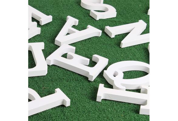 Wooden Letters Numbers Craft Wooden Alphabet Vintage Wedding Home Decor Shooting Props Preschool