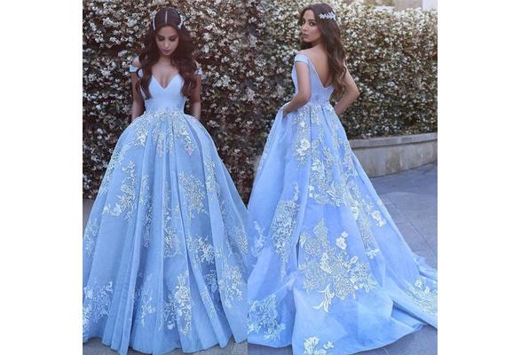 Galaxy Poofy Prom Dresses