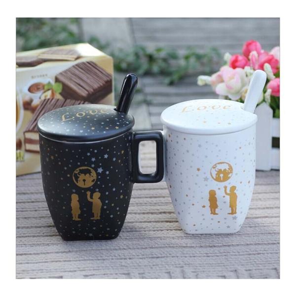 wish creative ceramic mug cups starbucks coffee mugs couples cup