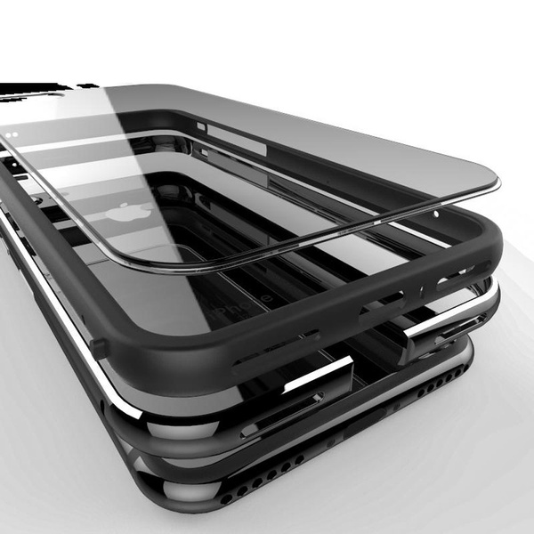 best website 4b8ec c61a8 Hot Sale Aluminum Frame Metal + Clear Crystal Back Panel Shockproof Black  Phone Cases Covers For IPhone 7 / 7 Plus / 6 / 6S / 6S Plus / 6Plus