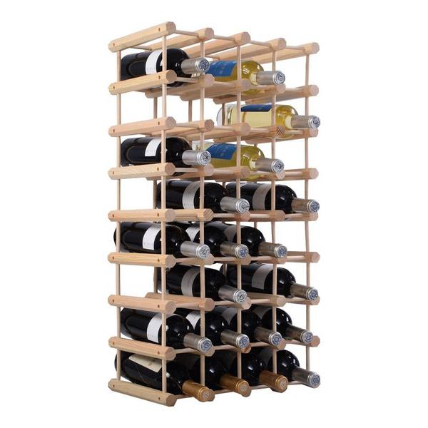 Weinregal aus Holz Flaschenregal Weinständer 40 Flaschen Weinschrank erweiterbar