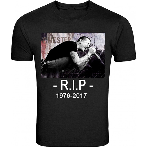 ce6125103 Tops Man RIP Linkin Park RIP Chester Bennington T-Shirt Black Linkin Park  Rest In Peace All Size | Wish