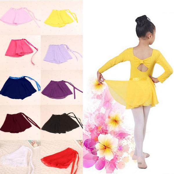 Yellow Leotards Costume Kids Ballet Tutu Skirt Dance Dress chiffon GIRLS