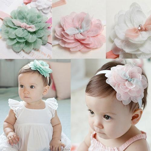 Baby Girls Hair Band Lace Cute Flower Toddler Kids Headband Hair Accessories