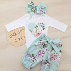 Baby, bowknot, Baby Girl, Floral print