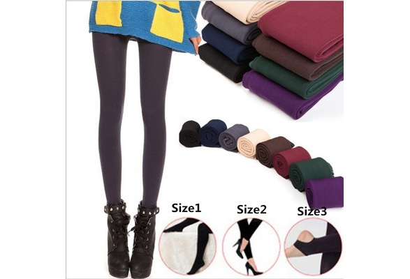 d0a1b3e2d85a3 Wish | Winter New Women Autumn Winter THICK Warm Legging Brushed Lining  Stretch Fleece Pants Trample Feet Leggings