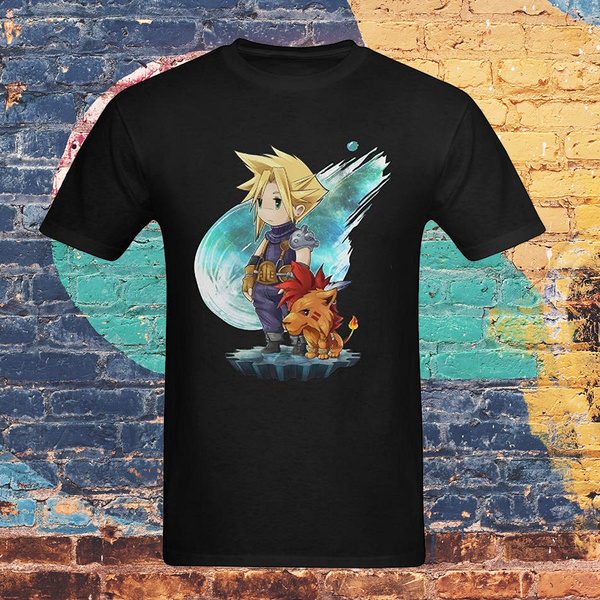 Summer New Fashion Casual Men T Shirts Final Fantasy Cloud Milee Printed Graphic Round Neck Cotton Tops Black Size S 3xl