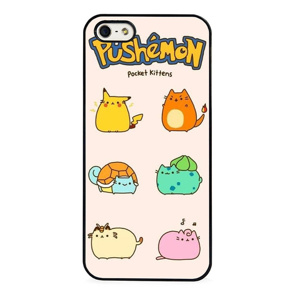 pretty nice 8a6c4 45be8 Pokemon Funny Pushemon Pusheen Cat iPhone 4 5 6 7s plus case Samsung Galaxy  S4 S5 S6 S7 S8 cover