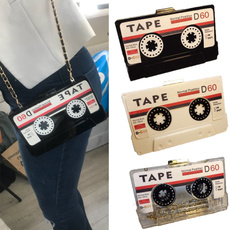 tapecassette, women bags, 2019bag, tapeprinted