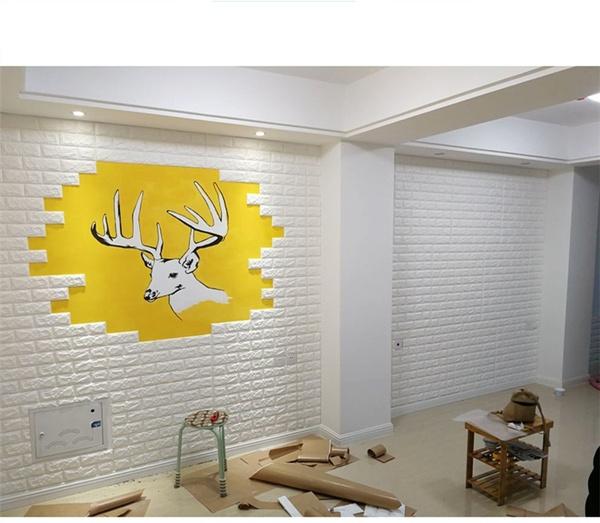 Wish | DIY 60*30cm PE Foam 3D Wallpaper Wall Stickers Home ...