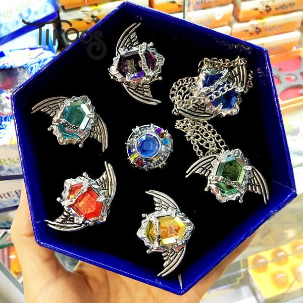7pcs Set Fashion Jewelry Ring Anime Vongola Rings Katekyo Hitman