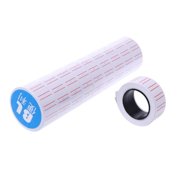5000Pcs Adhesive Price Tag Label Paper For Labeling Machine Mx-5500